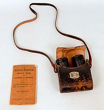 WWI German Selsi binoculars & Active Service French Book