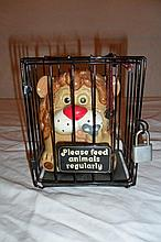Lion in Cage Coin Bank
