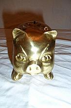 Brass Pig Coin Bank
