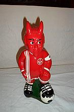 Devil Soccer Player Coin Bank