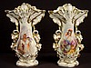 Large pair of Old Paris portrait vases, 18in. T, 12in. W.