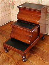 Mahogany Victorian bed steps