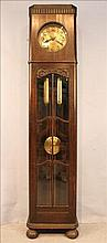 English oak grandfather clock, 2 weights