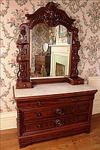 Mah. Rococo dresser, Mitchell & Rammelsberg