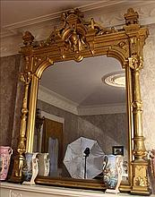 Magnificent gold gilt over the mantle mirror