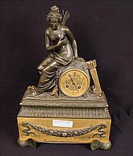 French bronze clock with Greek Goddess
