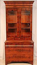 Mahogany Empire secretary bookcase