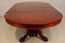 Mahogany dining table with 6 leaves