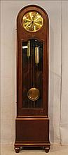 Oak double weight grandfather clock