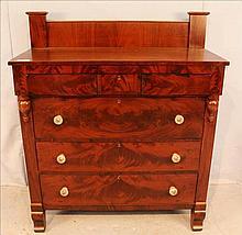 Empire 6 drawer chest with chimney backsplash