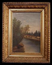 Oil on canvas of landscape scene