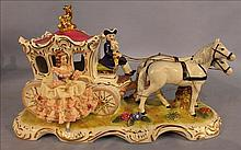 Dresden type carriage with horses and driver