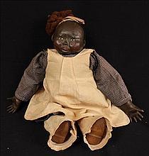 Black  memorabilia Doll, made of beans