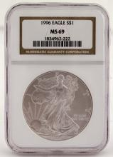Slabbed 1996 Silver Eagle - MS 69 - Premium Coin