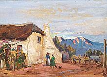 Nita (Pauline Augusta Wilhelmina) Spilhaus, Old Farm House, recto; Seascape, verso