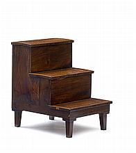 A set of Victorian mahogany bed steps