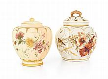 A Royal Worcester pomander and cover, date mark worn, Rd 112588