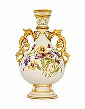 A Royal Worcester two-handled vase, 1890, Rd 101232