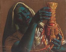 Vladimir Griegorovich Tretchikoff, Crayfish Seller