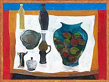 Cecil Edwin Frans Skotnes, Still Life with Bottles and a Vase