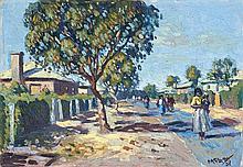 George Mnyaluza Milwa Pemba, Street Scene, Township