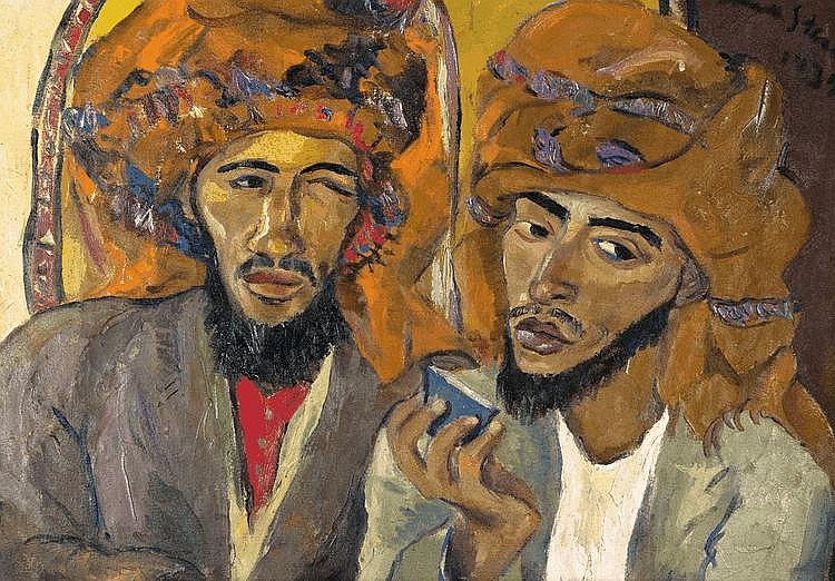 Irma STERN South African 1894-1966 Two Arabs