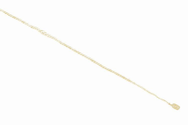Cultured pearl and diamond necklace composed of a