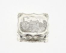 A rare Victorian silver vinaigrette, Nathaniel Mil