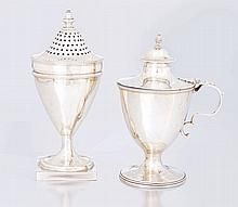 A George III silver pepper pot, Charles Hougham, L
