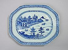 A Chinese blue and white Nanking dish, Qing
