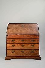 A Chinese Export hardwood fall-front bureau, 18th