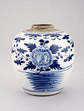 A Chinese blue and white jar, Qing Dynasty, early