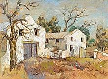 Gregoire Johannes Boonzaier, Rural Buildings with Figures