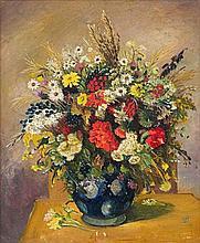 Pranas Domsaitis, Still Life with Flowers