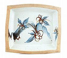 Tim Morris, Rectangular Dish with Flower Motif