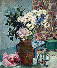 Maud Frances Eyston Sumner, Still Life with Daisies and Cherries