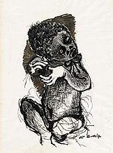 Dumile (Zwelidumile Mxgazi) Feni-Mhlaba, Seated Child