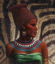 Vladimir Griegorovich Tretchikoff, Portrait of a Zulu Maiden