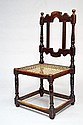 A Cape Baroque ebonised hardwood sidechair, first quarter 18th century