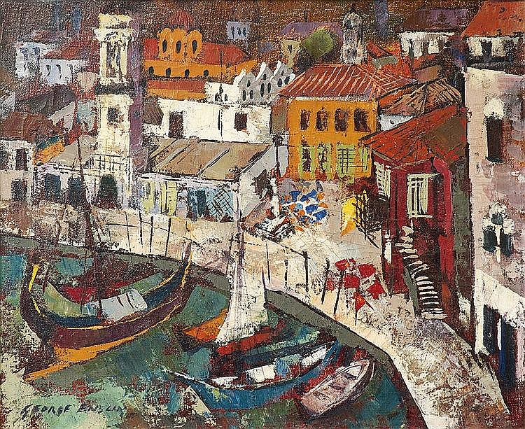 George ENSLIN South African 1919-1972 Greek Island