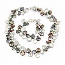 CONJUNTO DE PLATA Y PERLA de perlas barrocas de