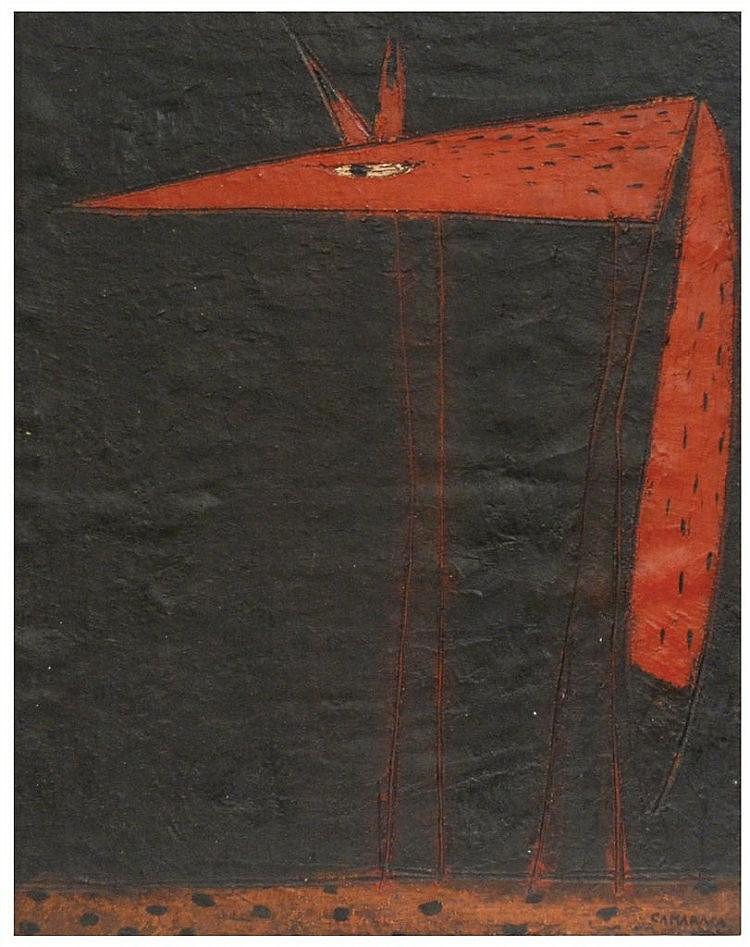 ANTONI CAMARASA (1957) técnica mixta sobre tabla.