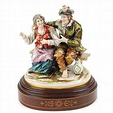 COUPLE IN CENTRAL EUROPEAN PORCELAIN