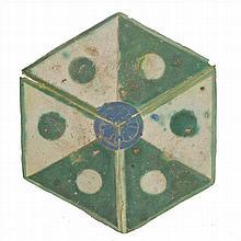 THREE CATALAN GOTHIC TILES XV CENTURY