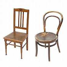 TWO CHILD CHAIRS