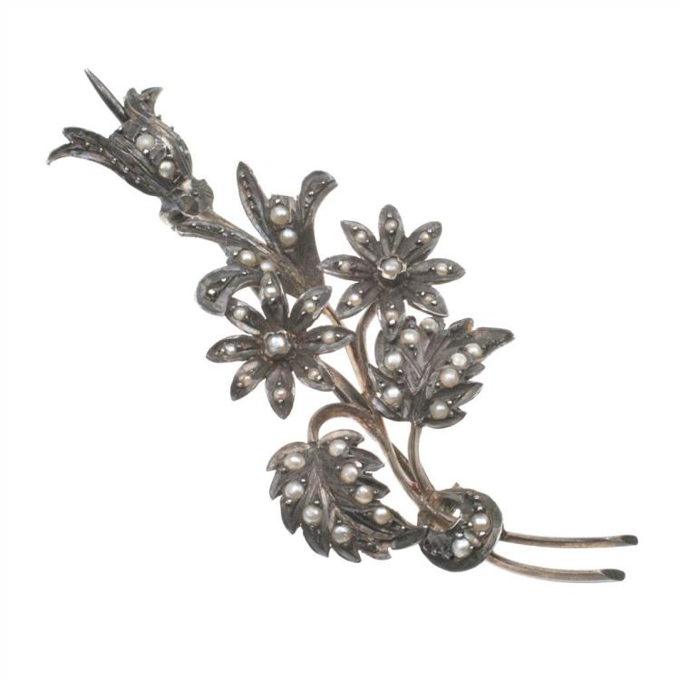 BOUQUET OF FLOWERS BROOCH, 19TH CENTURY