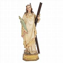 SAINT IN WOOD AND STUCCO
