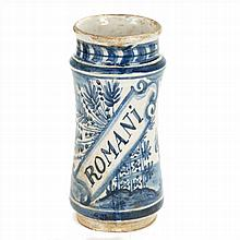 PHARMACY POT IN POTTERY.XVIII CENTURY.CATALONIAN.