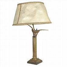 TABLE LAMP EAGLE DECORATION IN CALAMINE