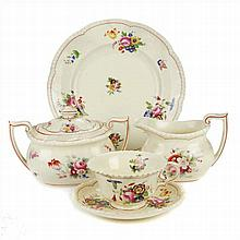 SNACK SET IN ROYAL CAULDON-ENGLAND PORCELAIN